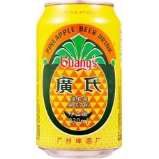 Pivo z okusom ananasa 1% alk. 330ml - GUANG's