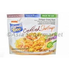Ocvrti jasminov riž s karijem in rakci 80g - MAMA